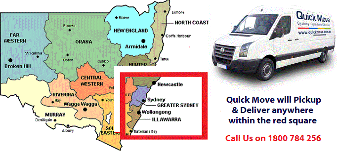 Cheap Removals Sydney Service Map