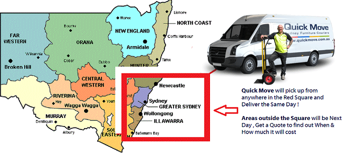 courier services map